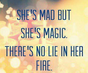 fire, magic, and quote image