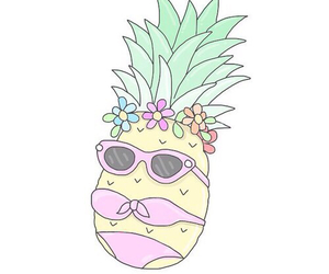 overlay, pineapple, and background image