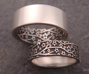 rings, couple, and ring image