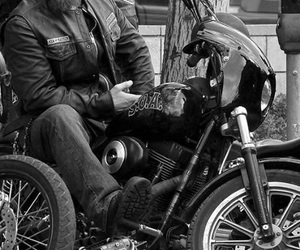 black and white, motorcycle, and motorbike image