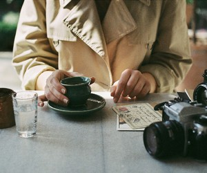 50mm, analogue, and coffee image