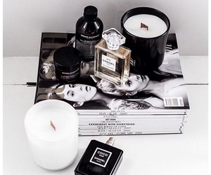 chanel, candle, and magazine image
