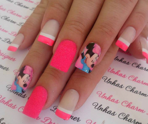 nails, pink, and minnie image