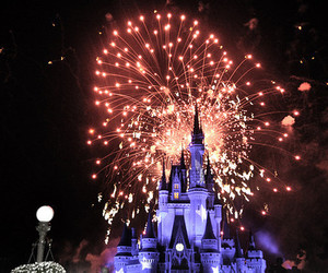fireworks, castle, and disney image