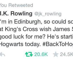 harry potter, jk rowling, and tweeter image