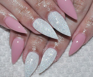 pink, amazing, and nails art image