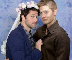 actors, married, and sam winchester image