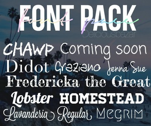 editing, font, and pack image