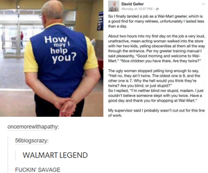 funny, walmart, and lol image