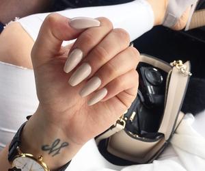 bag, hand, and nail image