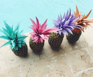background, food, and pineapple image