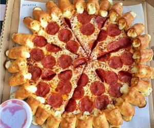 colors, food, and pizza image