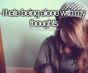 alone, hate, and thoughts image