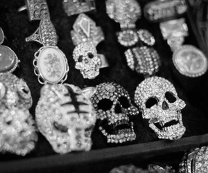 skull, fashion, and rings image