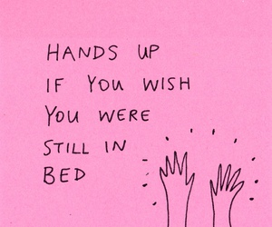 pink, bed, and drawing image