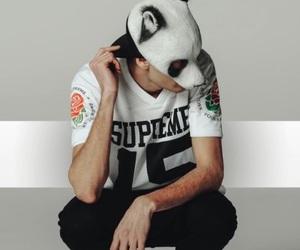 black, concert, and mask image