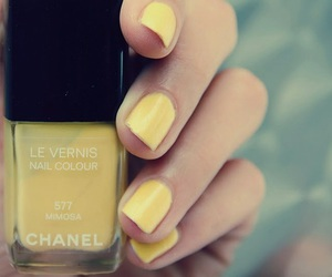 nails, chanel, and yellow image