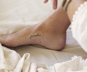 elegant, foot, and tattoo image