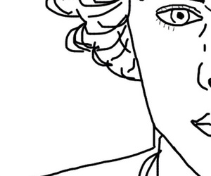 outline, Harry Styles, and one direction image
