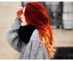 hair, luanna perez, and red image