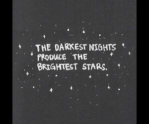 quote, stars, and dark image