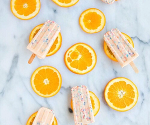 orange, ice cream, and popsicle image