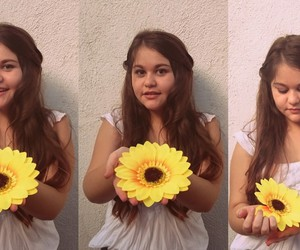 girl, heaven, and sunflower image