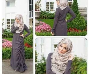 grey, hijab, and long sleeve image