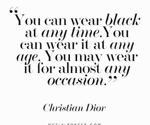 quotes, black, and dior image