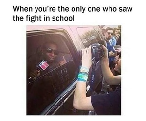 funny, school, and fight image