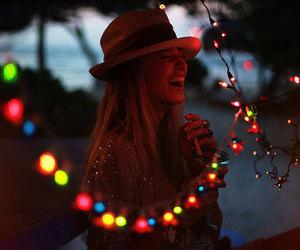 girl, light, and smile image