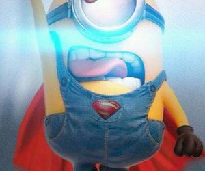 minions, superman, and funny image