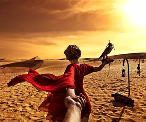Dubai, desert, and sun image