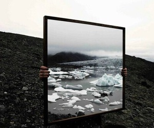 grunge, mirror, and nature image
