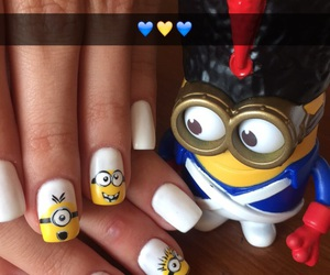 animation, minions, and nail art image
