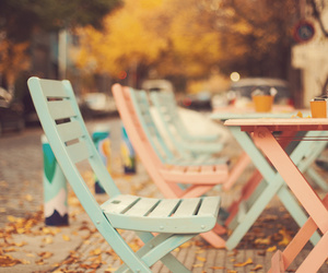 chair, autumn, and pastel image