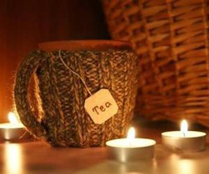 tea, autumn, and candle image