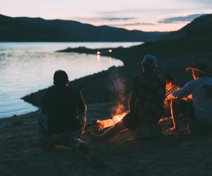friends, fire, and summer image