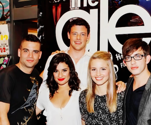 glee, lea michele, and mark salling image