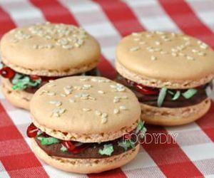 macaroons, hamburger, and food image