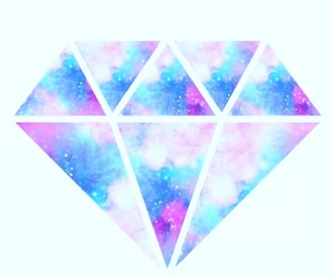 diamond, galaxy, and overlay image