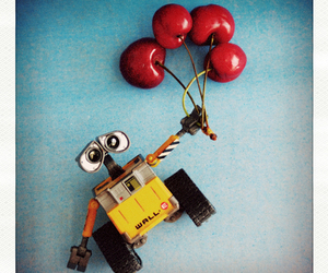 cherry, wall-e, and cute image