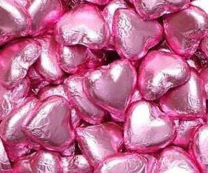balloon, girl, and love heart image