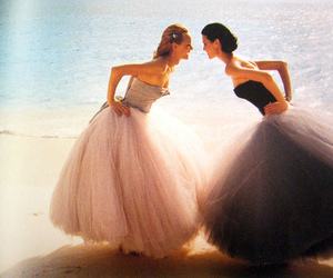dress, beach, and friends image