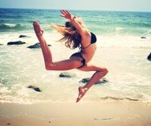 beach, gymnast, and gymnastics image