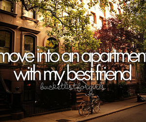 apartment, best friends, and bucket list image