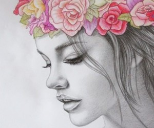 awesome, flower crown, and girl image