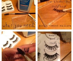 clean, eyelashes, and false image