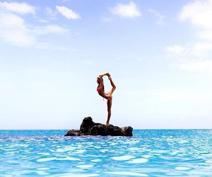 sea, yoga, and summer image