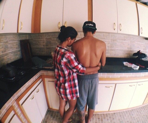 boy, boyfriend, and cooking image